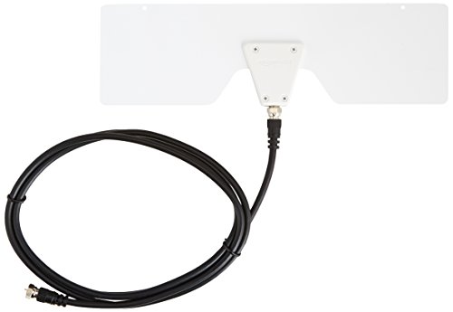 Amazon Basics Antena HDTV para Interiores, Ultra Delgada, 25 Millas