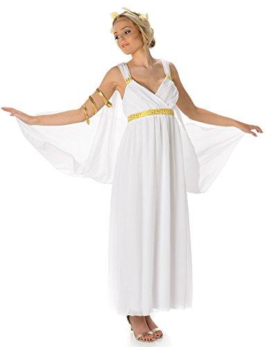 Greek Goddess Costume Set - Halloween Aphrodite Toga and Accessories, Large ()