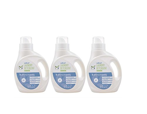 M2 Liquid Laundry detergent free & clear (unscented) all natural organic, hypoallergenic, suited for allergies and ithcing skin 32oz pack of 3 … by M2 Mild & Mighty