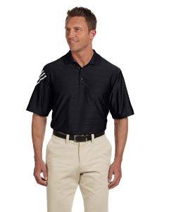 Adidas Golf A133 Men's Climacool Mesh Polo Black/ White Xl