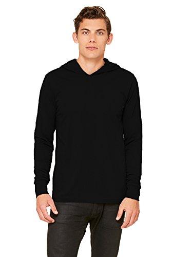 Canvas Unisex Unisex Driftwood Long Sleeve Hooded T-Shirt. 3512 - Black 3512 M ()