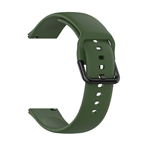Compatible Samsung Galaxy Watch Active (40mm) Bands/Galaxy Watch (42mm) SM-R500 Band, Tuscom 20mm Soft Silicone Sport Strap Replacement Wristband for Women Men Small Large (Small, Army Green)
