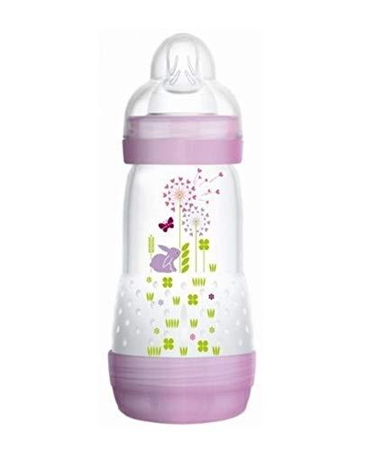 260ML BPA FREE//ROSE MAM 1x FlascheANTI-COLIC mit weichem Auslauf 0m+