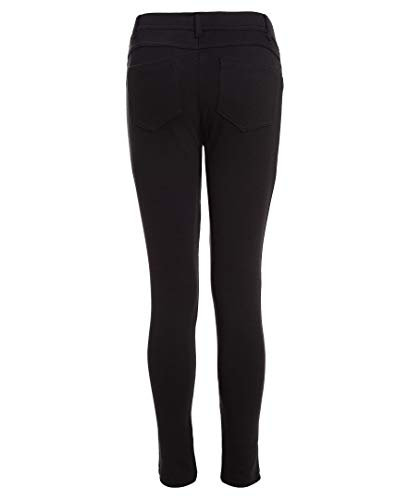 (Nautica Girls Plus Size' School Uniform Stretch Interlock Legging, Black, 18.5)