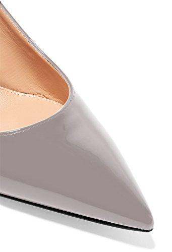 Edefs Zapatos tira 5cm Gris Medio Para zapatos Tacón Mujer Tobillo 6 De rrHdwq0