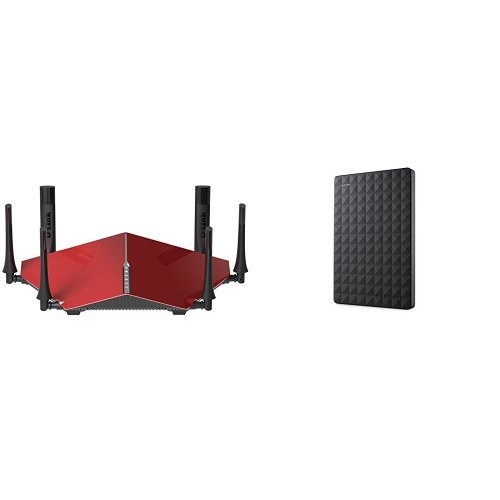 D-LINK AC3200 Ultra Tri-Band Wi-Fi Router and Seagate Expansion 1TB Portable External Hard Drive