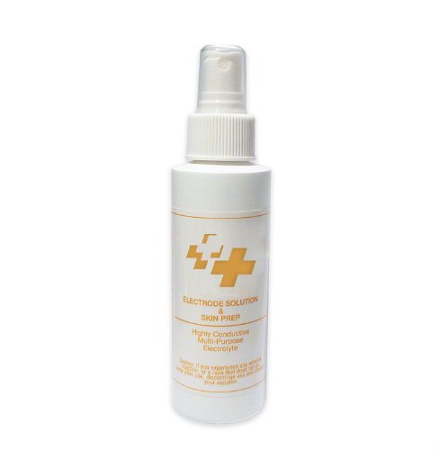 Conductive Electrolyte Spray & Skin Prep Solution for Electrotherapy Pain Treatment (6 oz.)