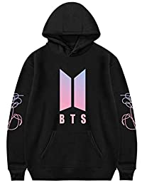 Bocaoying Kpop BTS Love Yourself Bangtan Boys Hoodies Suga Jimin V-Monster Sweaters Jacket Pullover Hoodies