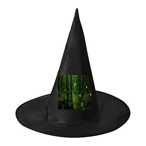(Fireflies in The Forest Unisex Halloween Witch Role Playing Wizard Hat for Costume)