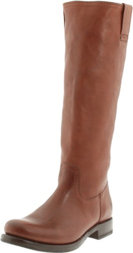 FRYE Women's Jenna Inside Zip Knee-High Boot, Redwood Pebbled Full Grain, 8 M US