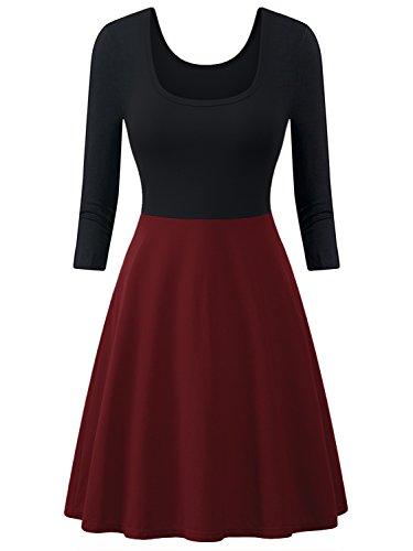 midi 3/4 sleeve dress - 5
