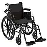 """Roscoe Medical W31616E Reliance III Wheelchair with Elevating Legrests, 16"""""""