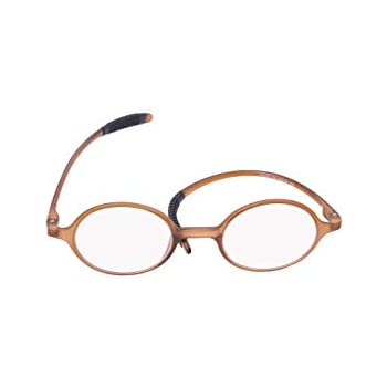 1ace59b1506 Genetic Vision Retro Fashion Round Reading Glasses Blue Light Computer Reading  Glasses For Men and Women (Brown