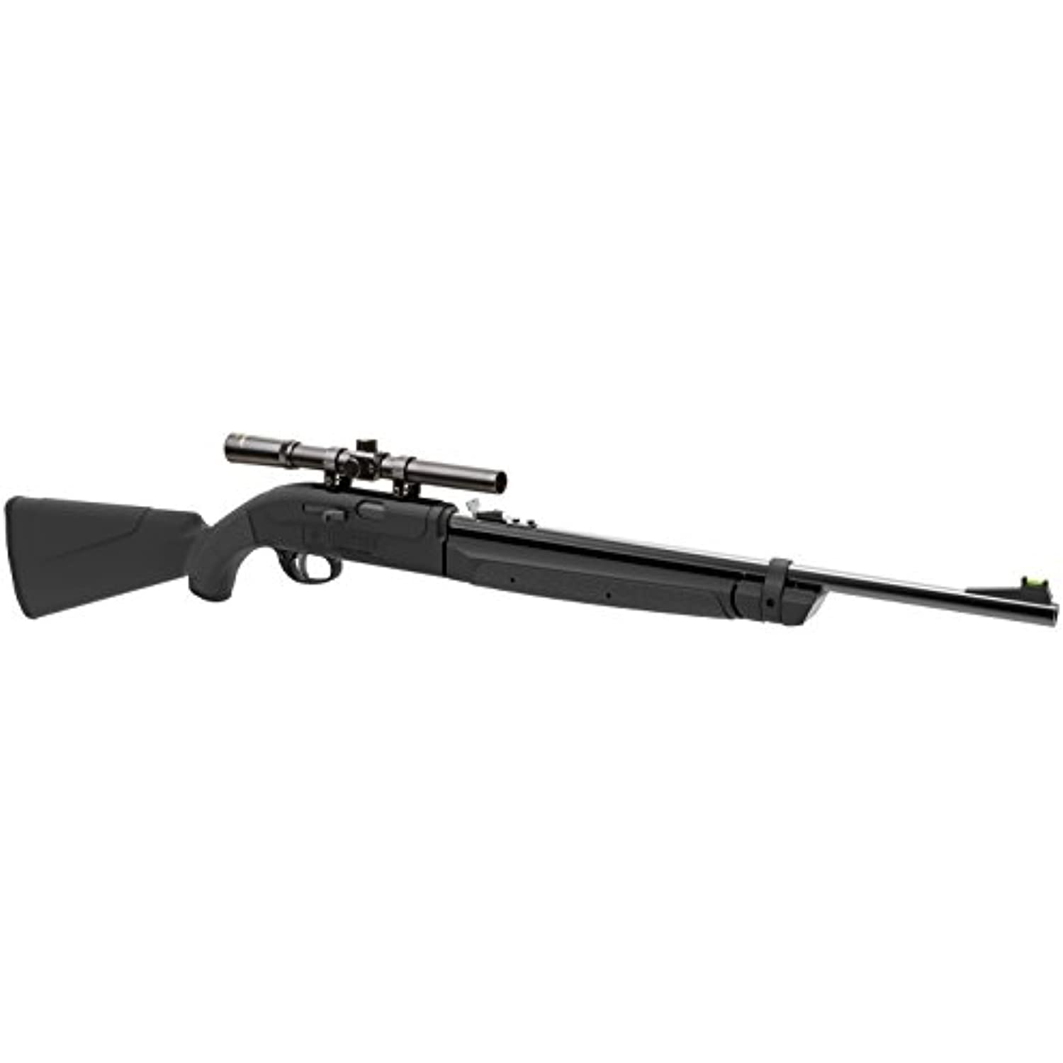 Crosman CLGY1000KT Legacy 1000 Single Shot Variable Pump .177-Caliber Pellet And BB Air Rifle With 4 x 15 mm Scope, Black