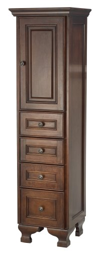 Foremost HANT1556 Hawthorne Tall Cabinet, Dark Walnut by Foremost Group