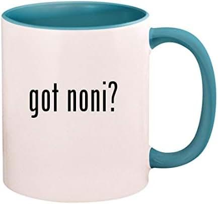got noni? - 11oz Ceramic Colored Handle and Inside Coffee Mug Cup, Light Blue
