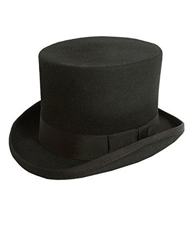 dcb7bfce29e8af Christys' London Mens Black Top Hat Soft Wool Felt Formal Wedding Races-57