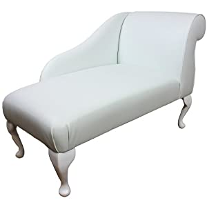 41  Mini Chaise Longue in a White Faux Leather  sc 1 st  Amazon UK : mini chaise - Sectionals, Sofas & Couches