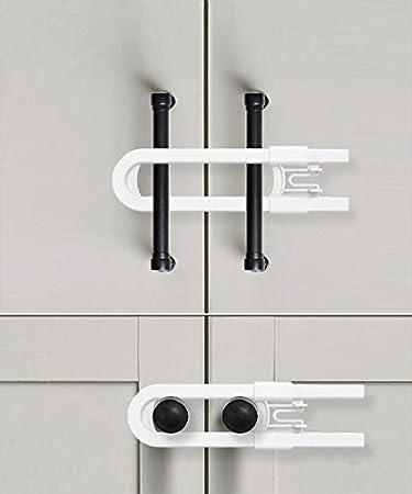 Safety First Cabinet Slide Lock 3 Pack Plastic Child Slide Lock New