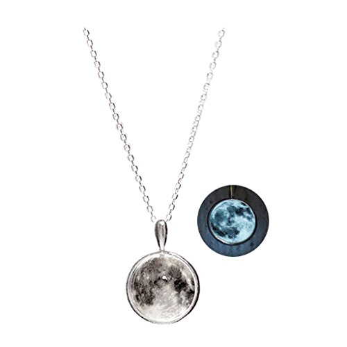 WINGBLING Women White Moon Luminous Glow In The Dark (Necklace) by WINGBLING