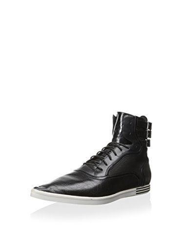adidas Y-3 by Yohji Yamamoto Women's Y-3 Brogue High II Sneaker, Black, 7.5 M UK/9 M US