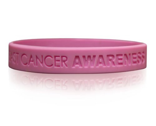 Cancer Awareness Wristband (Breast Cancer Awareness Wristbands 1, 5 & 12 Pack of Support Bands /)