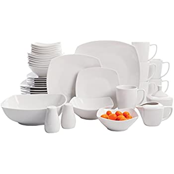 Gibson Home Zen Buffetware 39 Piece Porcelain Dinnerware Set Service for 6 with Serveware Square  sc 1 st  Amazon.com & Amazon.com: Gibson Home Zen Buffetware 39 Piece Porcelain Dinnerware ...