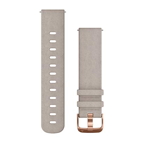 Garmin Quick Release Band, 20mm, Gray Suede with Rose Gold Hardware (Rose Gray)