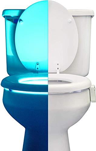RainBowl Motion Sensor Toilet Night Light - Funny & Unique Birthday Gift Idea for Dad, Mom, Him, Her, Men, Women & Kids - Cool New Fun Gadget, Best Gag Christmas Present...