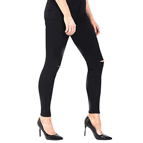 Donna Cut Jeans Single Knee Xelay Black Skinny qz7wn01