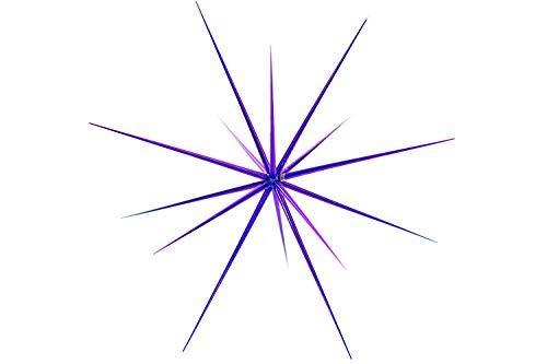 Purple Starburst Christmas Tree Ornaments Hanging Stars 8IN