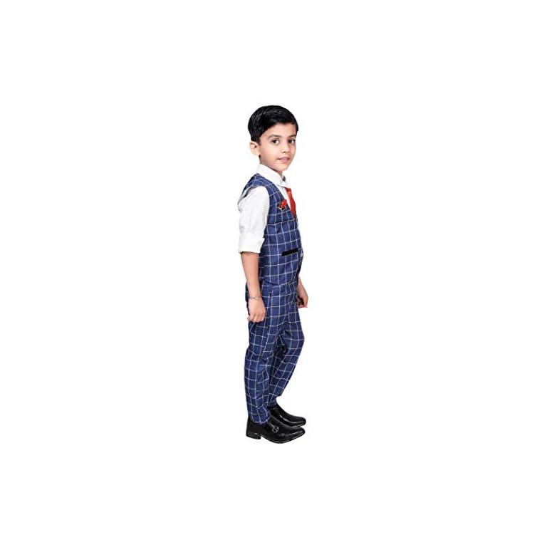 31xC7s2NVZL. SS768  - ahhaaaa Boy's Blended Waistcoat, Shirt, Tie Trouser Set