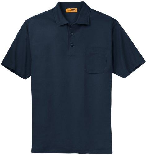 Cornerstone Herren Button-down Poloshirt Blau Navy XXXXX-Large