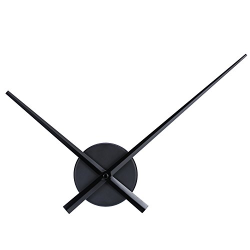 s DIY Wall Clock for Kitchen Office and Home Art Decor Quartz Clock Movement Mechanism Accessories (Black) ()