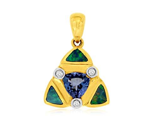 Milano Jewelers Large .55CT Diamond 14KT Rose Gold 3D Cluster Tear Drop Floating Pendant ()