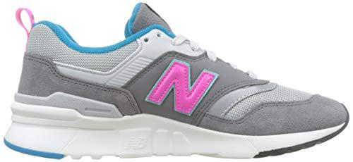 New Balance Herren 997H Sneaker, Grau (Castlerock/Peony), 38.5 EU