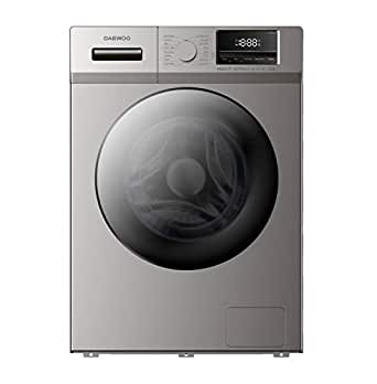 Daewoo Front Load Automatic Washing Machine, 6 kg, Silver - DWD-MT1215