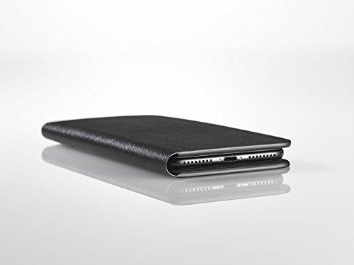 [iPhone 7 Plus Case], SQUAIR - Calf Leather Case for iPhone7 Plus - Book Type (Black) (Black) by SQUAIR (Image #2)