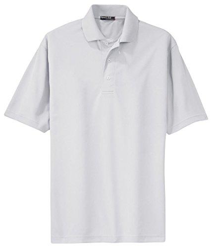 - Sport-Tek Men's Tall Dri Mesh Polo 3XLT White