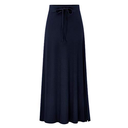 Fluide Noir Fendue lasticit Jupe Femme Longue Jupe Taille YuanDiann vase Taille Jupe t Grande Ample Haute CwUfqB8