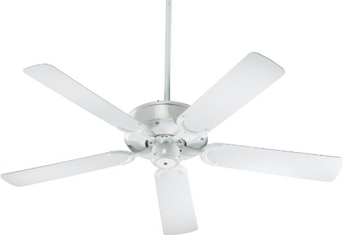 Quorum International 146525-6 Allure All-Weather Energy Star Ceiling Fan with White ABS Blades, 52-Inch, Gloss White - Blades Gloss High Ceiling Fan