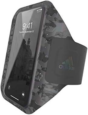 アディダスパフォーマンス スマホ用 アームバンド ランニング スポーツ ユニバーサルタイプ iPhone 6+/6S+/7+/8+/XS Max/XR 等対応 カモ柄ブラック [adidas SP Universal armband size L CAMO FW19 black]