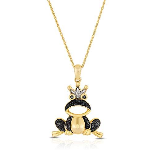 NATALIA DRAKE Novelty Lucky Animal Charms (Frog - .10ctw Black & ()
