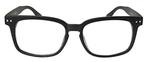 Edge I-Wear 80's Wayfarers Style Reading Glasses 540695-+1.50-5 Wood Black