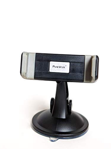 Car Mount Holder, Pure Work Windshield Dashboard Universal Car Cell Phone Cradle for iPhone Xs MAX XR X 8 Plus 7 Plus 6S SE Samsung Galaxy S10 S9 S8 Edge S7 S6 Note 9 Google Pixel LG and All Phones