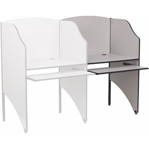 Flash Furniture Add-On Study Carrel in Nebula Grey Finish