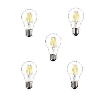 Eeayyygch 5 stücke A60 6 Watt E27 500LM Dimmbar 360 Grad Warm Cool Weiß Farbe LED Glühlampe Licht, 110 v (Farbe   -, Größe   -)