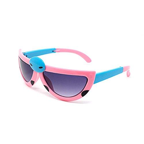 3 x Light Pink Coloured Pairs of Childrens Kids Girls Light Pink Stylish transforming cute ladybird Style - Eyelevel Sunglasses Polarised
