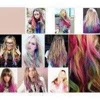 Temporary Hair Chalk Set Non-Toxic Hair Color Cream Rainbow Color Hair Dye(24pcs) by Mily (Image #2)