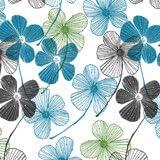 Suttons-Carta regalo 5fogli linee floreale fiori